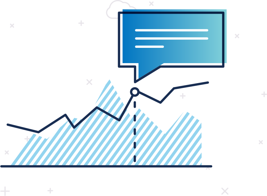 Databox annotation on graphs for history data