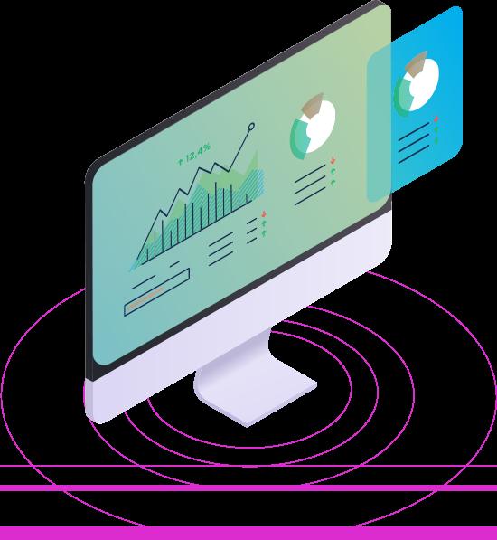 Databox Databoard example: big tv screen office wall metric KPI dashboard